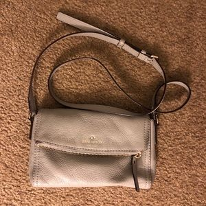 Kate Spade Fold Over Crossbody Bag in Cobble Stone